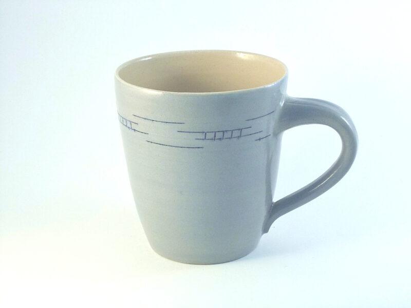 kleiner Kaffeepott Steinzeug hellblau