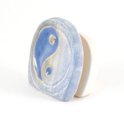 Kartenhalter YinYang weiß Keramik