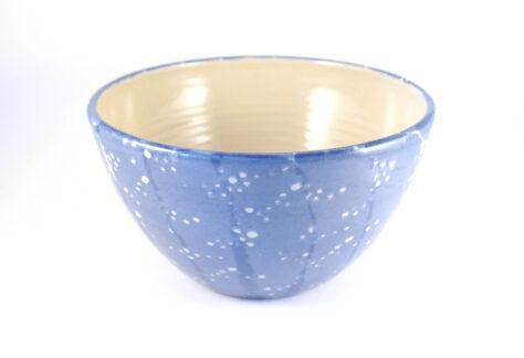 mittlere Schüssel Steinzeug blau