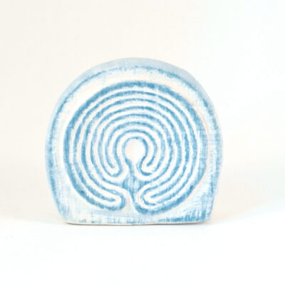 Kartenhalter Labyrinth weißer Ton