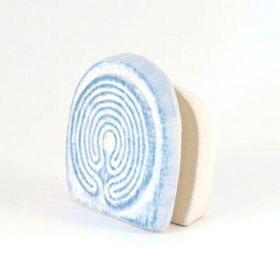 Kartenhalter Labyrinth weißer Ton seitlich
