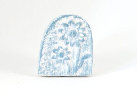 Kartenhalter Blume weiß