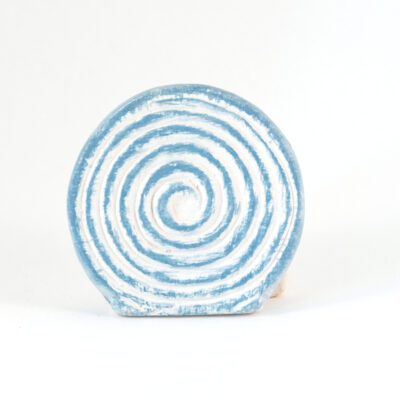 Kartenhalter Spirale weißer Ton