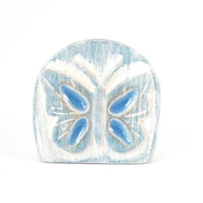 Kartenhalter Schmetterling weiß