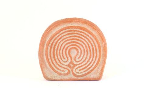 Kartenhalter Labyrinth roter Ton