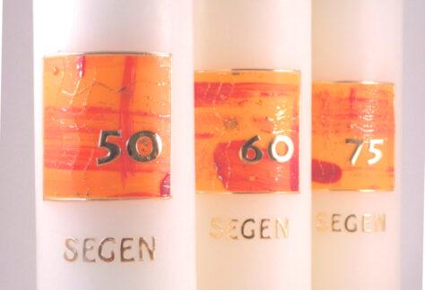 Segen mit Zahl orange