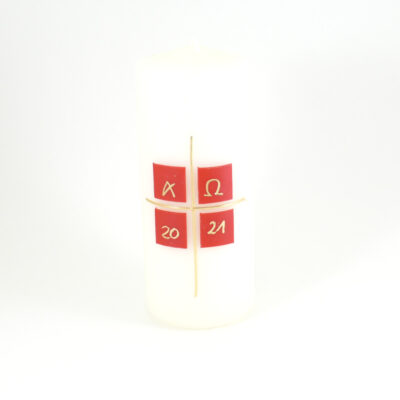 Osterkerze Kästchenkreuz einfach