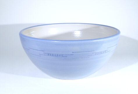 Salatschüssel Steinzeug hellblau