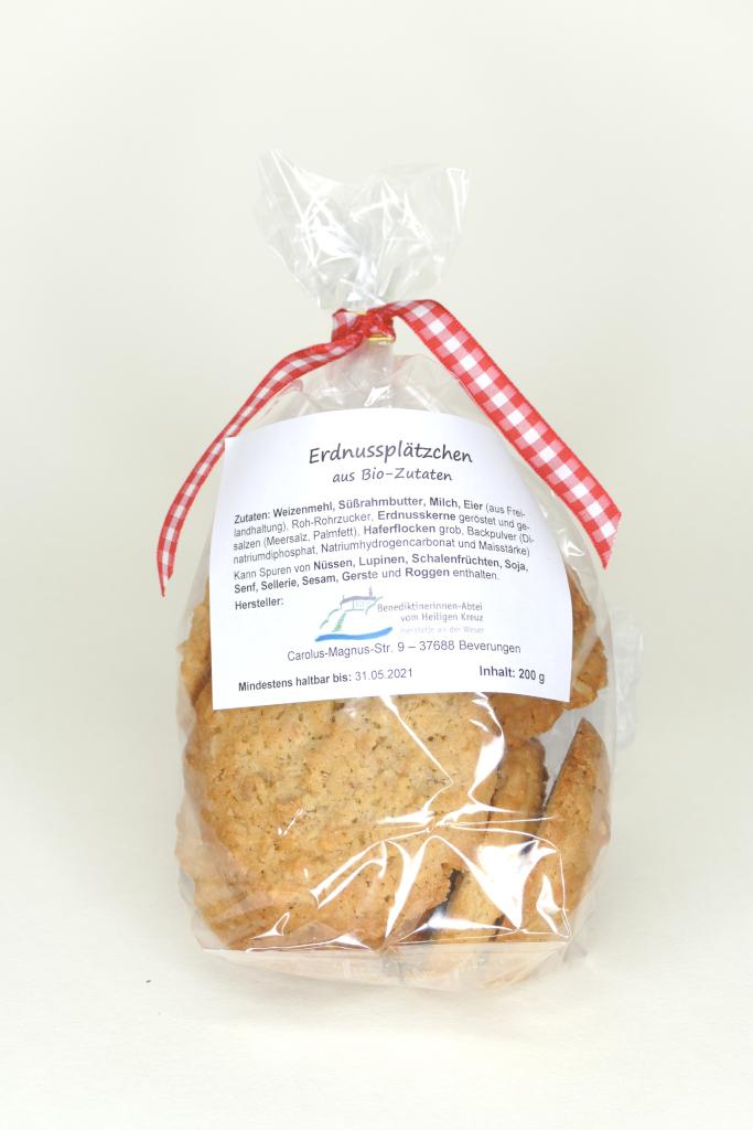 Erdnussplätzchen aus Bio-Zutaten
