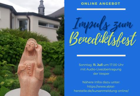 Impuls zum Benediktsfest - online
